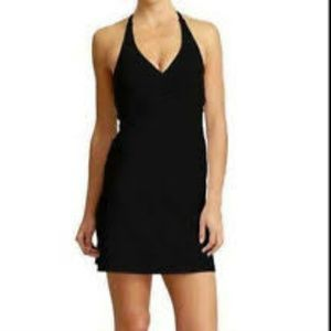 ATHLETA Aqua Helena Halter Dress Swim Black Small